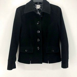Chicos Womens Jacket Black Flap Pockets S/4 0